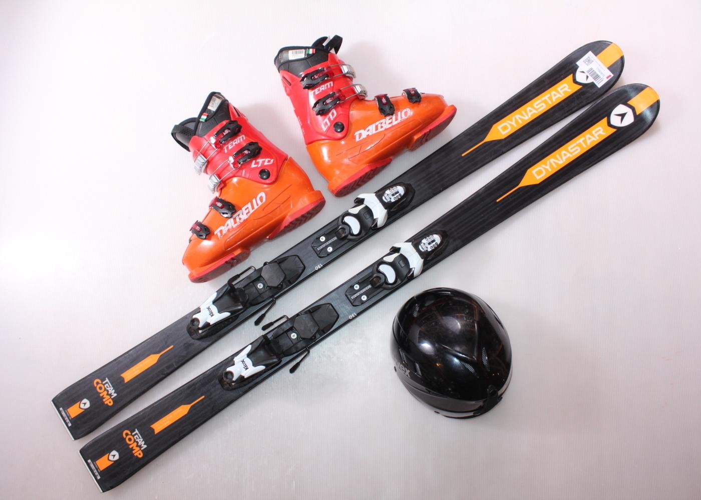 Dětské lyže DYNASTAR TEAM COMP 130 cm + lyžáky  38EU + helma