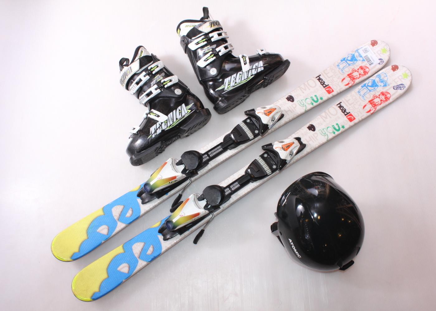 Dětské lyže HEAD Motive 117 cm + lyžáky  36EU + helma