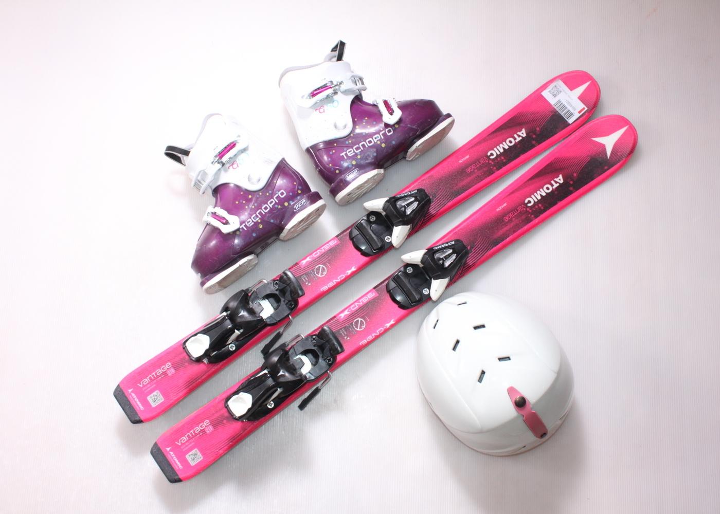 Dětské lyže ATOMIC VANTAGE  90 cm + lyžáky  28.5EU + helma