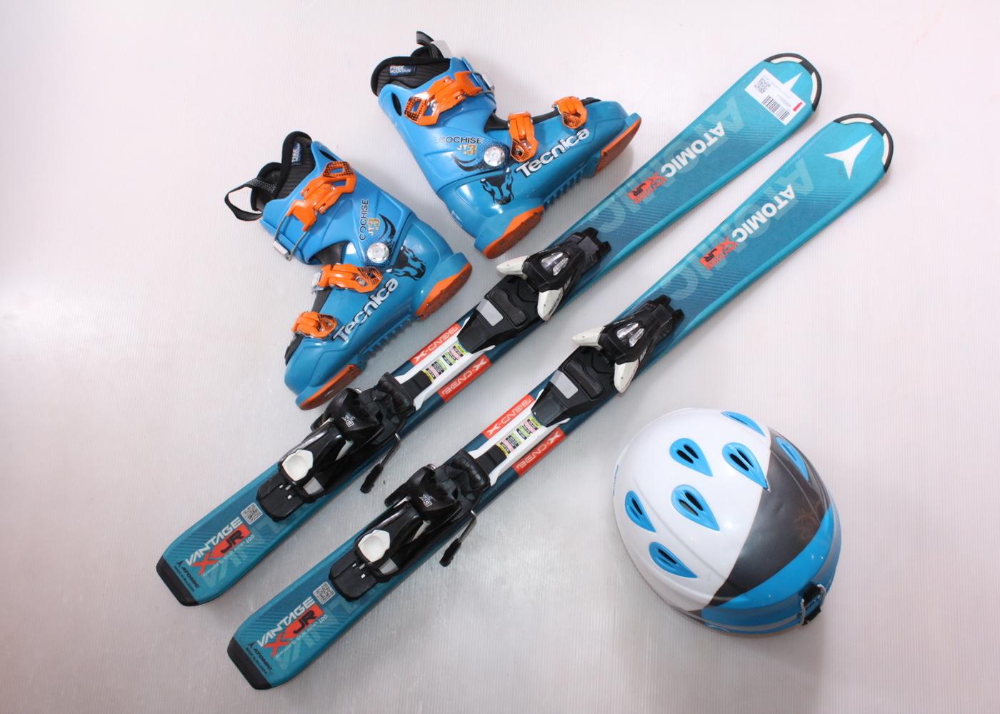 Dětské lyže ATOMIC VANTAGE JR X 100 cm + lyžáky  32EU + helma