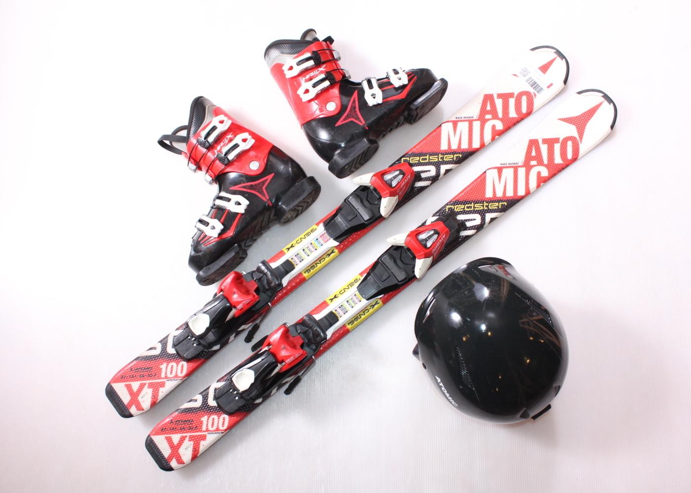 Dětské lyže ATOMIC REDSTER XT 100 cm + lyžáky  33EU + helma