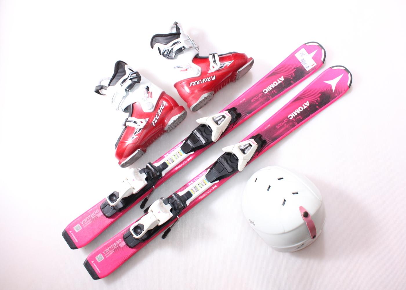 Dětské lyže ATOMIC VANTAGE  100 cm + lyžáky  31EU + helma