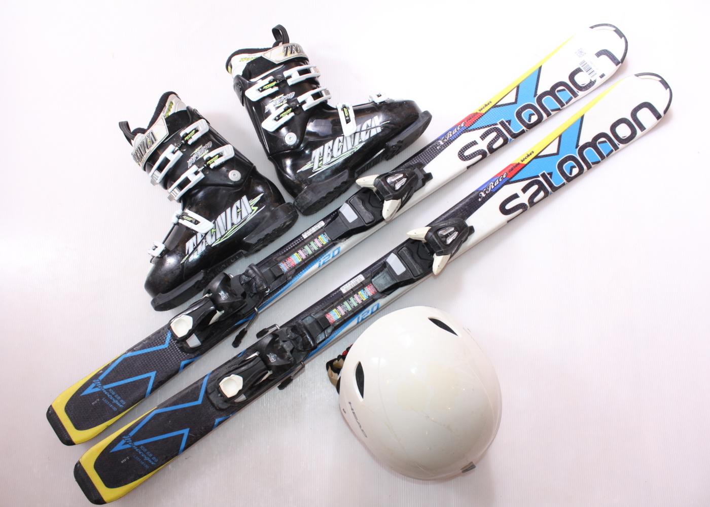 Dětské lyže SALOMON X RACE 120 cm + lyžáky  37EU + helma