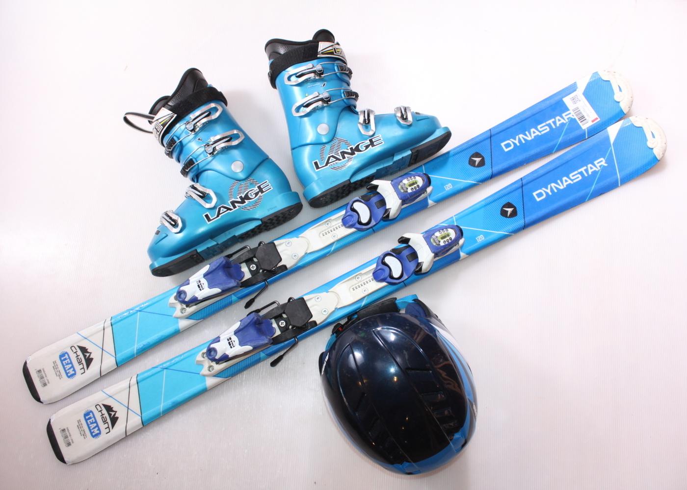 Dětské lyže DYNASTAR CHAM TEAM 120 cm + lyžáky  37EU + helma