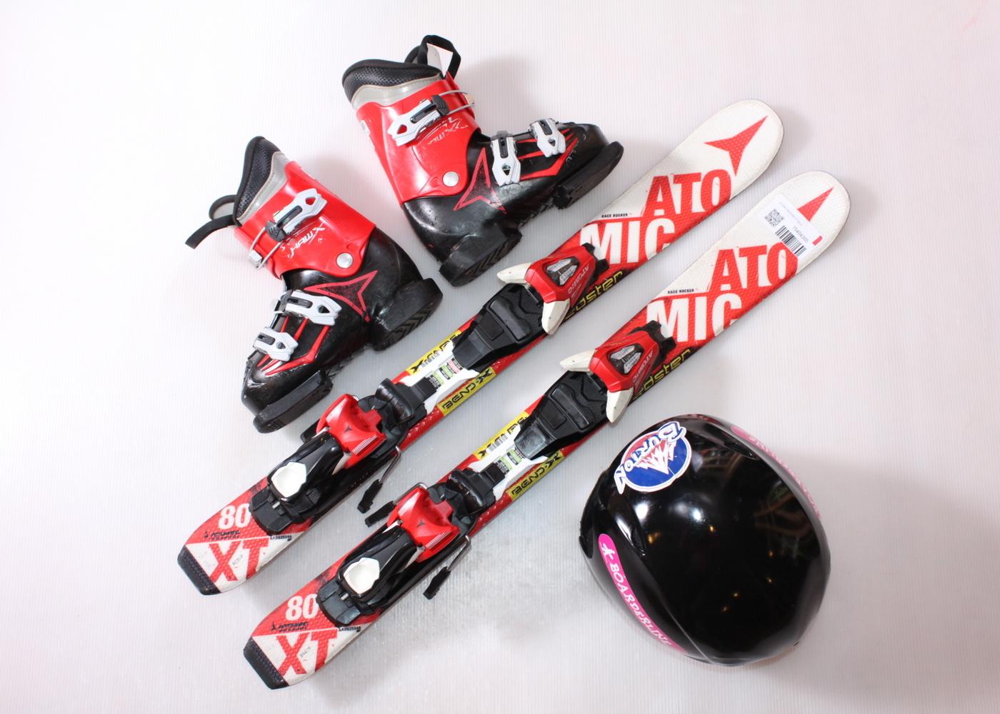 Dětské lyže ATOMIC REDSTER XT 80 cm + lyžáky  30.5EU + helma